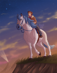 Starry Trail Ride + Speedpaint
