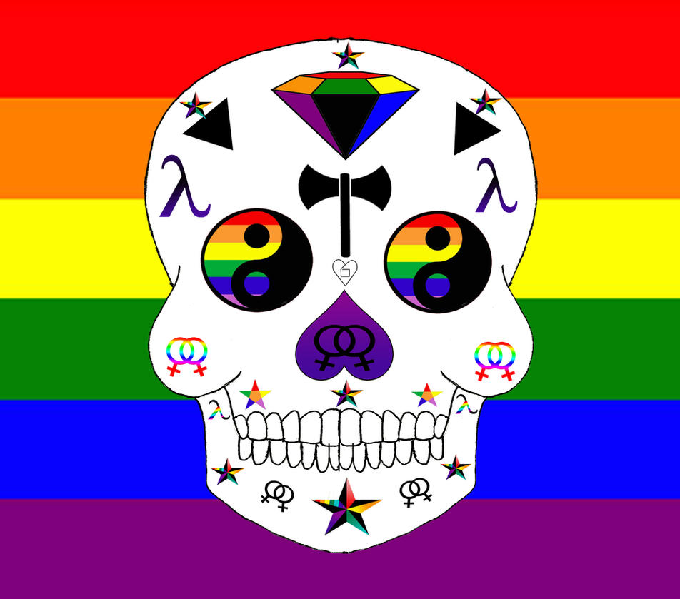 Lesbian pride sugar skull by little horrorz on deviantart lesbian pride sugar skull by little horrorz biocorpaavc Images