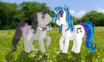 Vinyl Scratch and Octavia Melody G1 style by Mistress-Horror