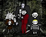 Tim Burton style The Addams Family