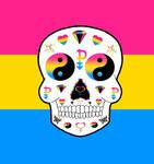 Pansexual Pride sugar skull