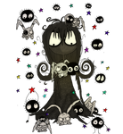 Soot Girl meets the soot sprites png