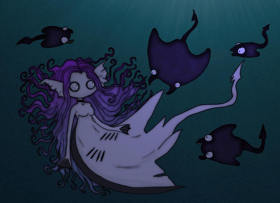 Monstrous mermaids- Stingray mermaid by ScorpionsKissx