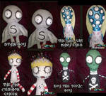 Tragic Toys Burton Inspired Dolls- sold by Little-Horrorz