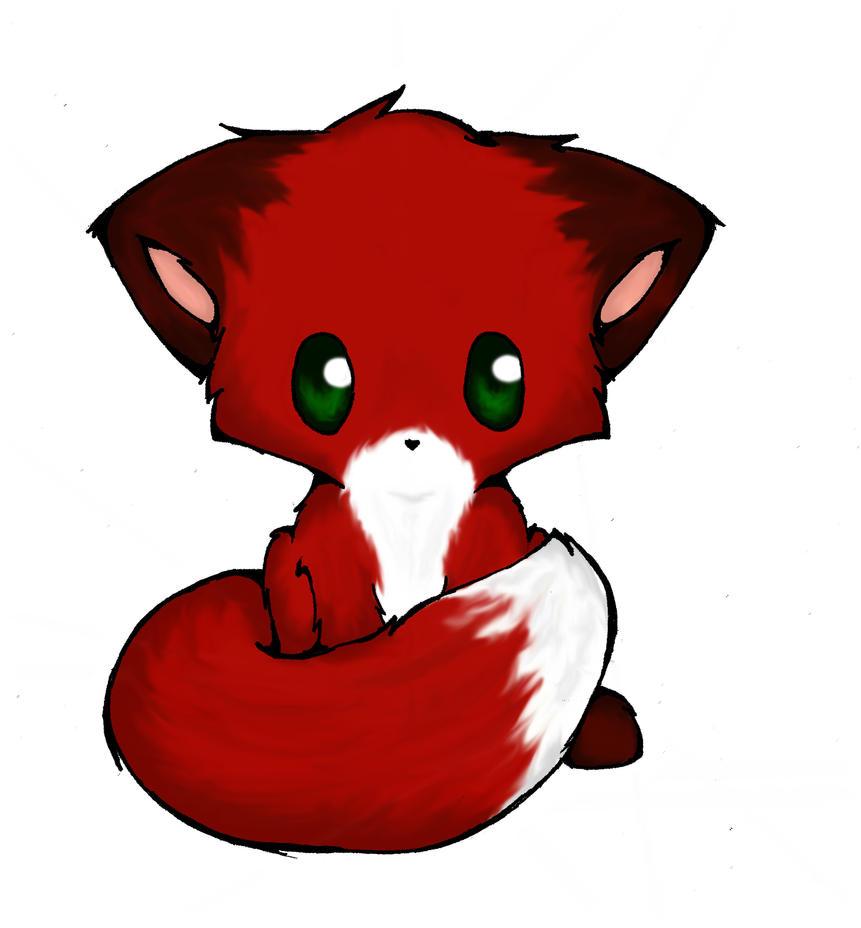 Colored Chibi Fox By Aimett On Deviantart