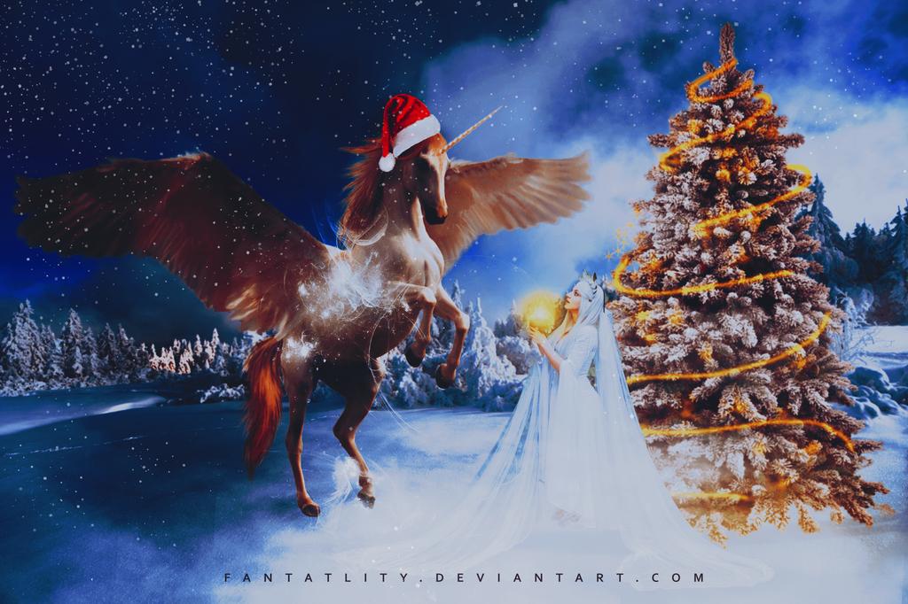 Unicorn For Christmas by fantatlity
