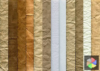 Free crinkled paper textures.