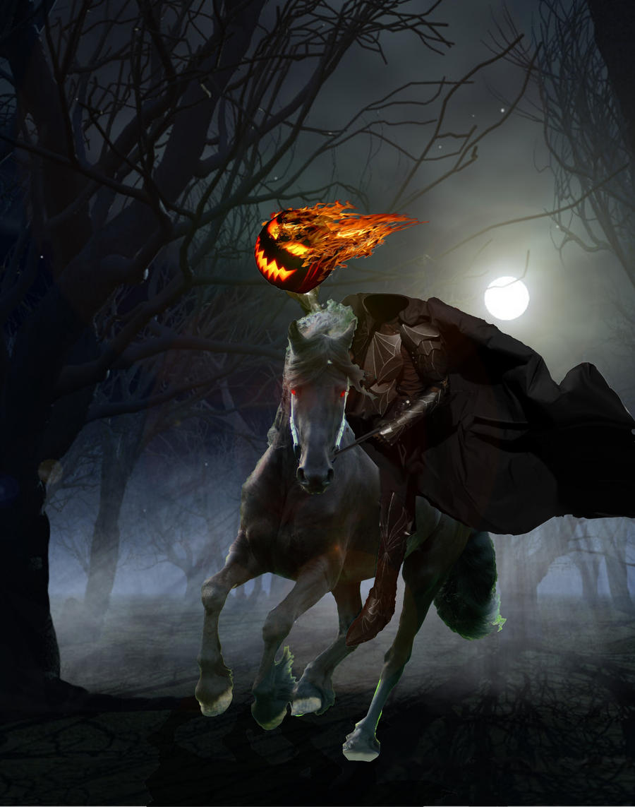 Идеи для Хэллоуина    - Страница 2 Headless_horseman_by_chellsshade-d3h2l3o
