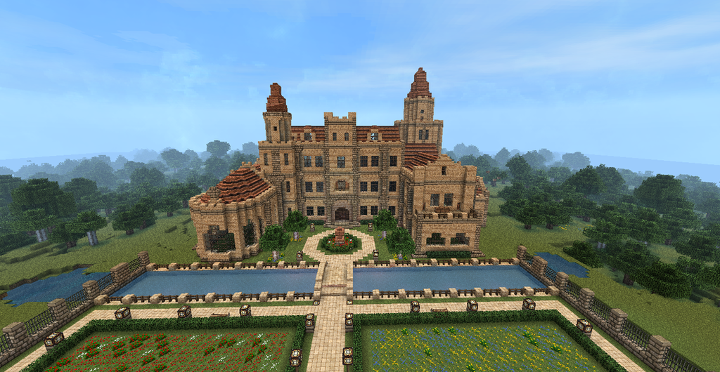 Minecraft Castle by MagDragonWolf on DeviantArt