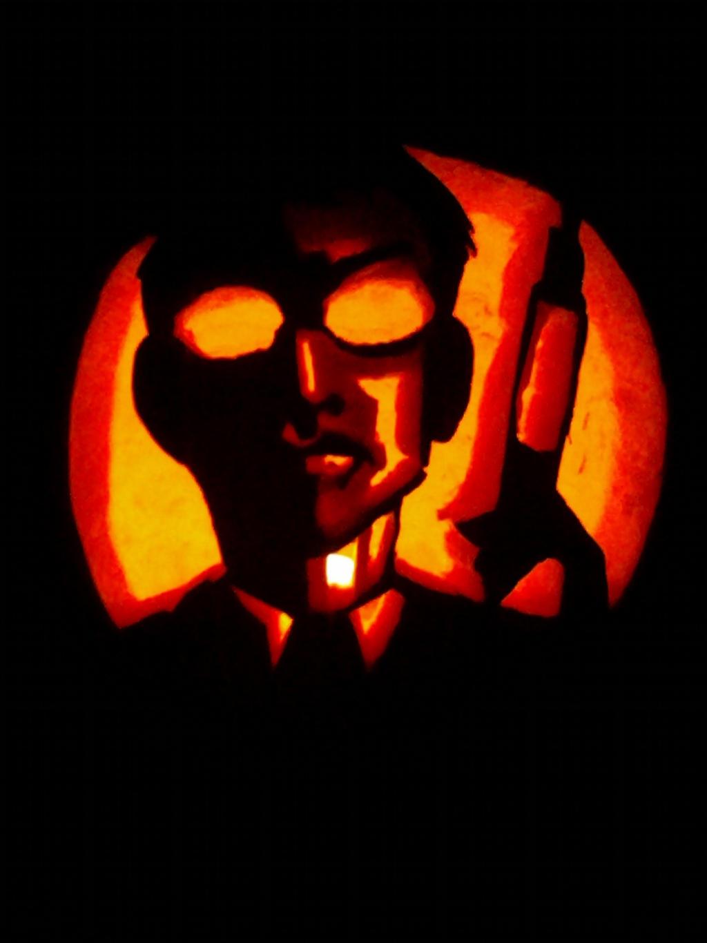 Herbert West Pumpkin by sleepless-Nekko