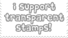 Transparency Support Stamp
