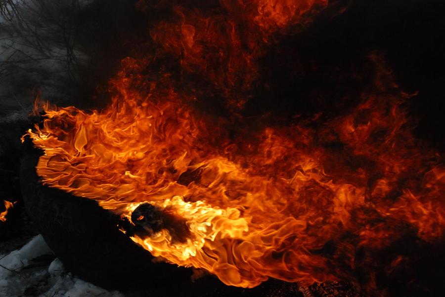 Fire Tyre by aidyjreeve