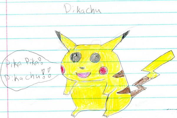 first pikachu drawing