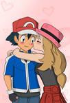 Ash and Serena (request)