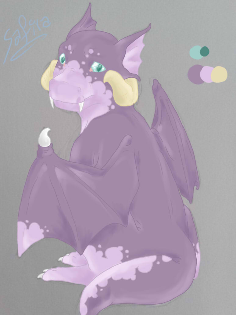 Little Baby Dragon Gets Colored by AbominalSnowDemon