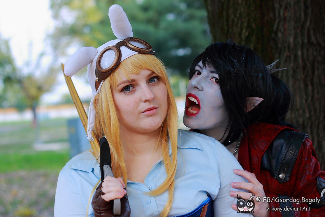 Fionna and Marceline by Citrozoey