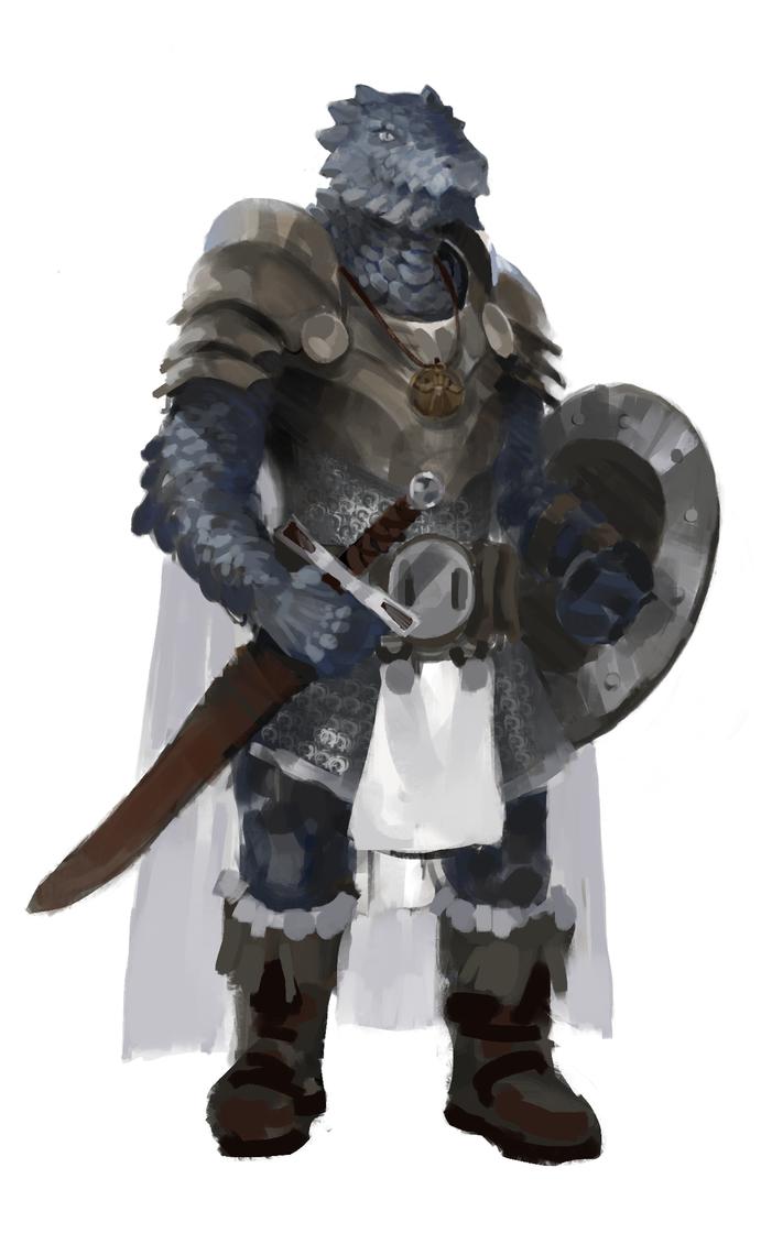Dragonborn Paladadin for a friend by Slange5