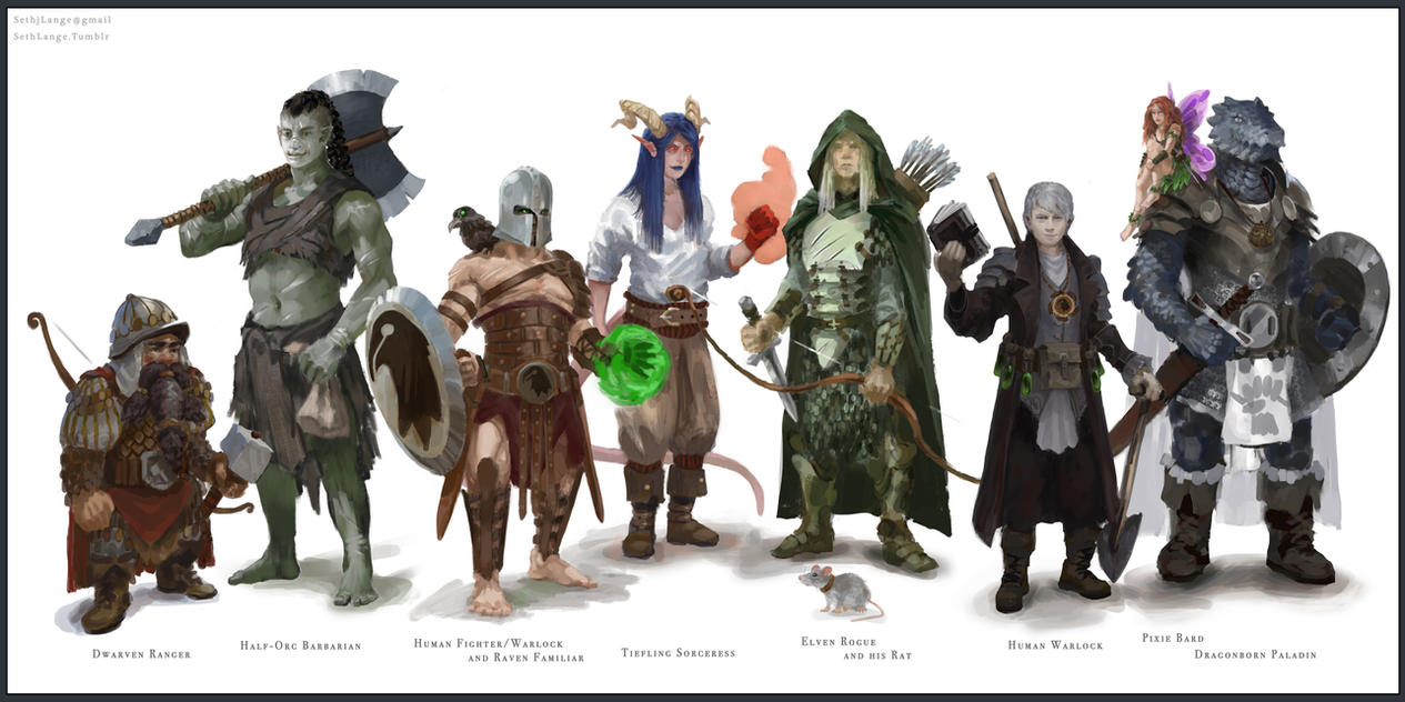 Dungeons and Dragons Group Portrait by Slange5