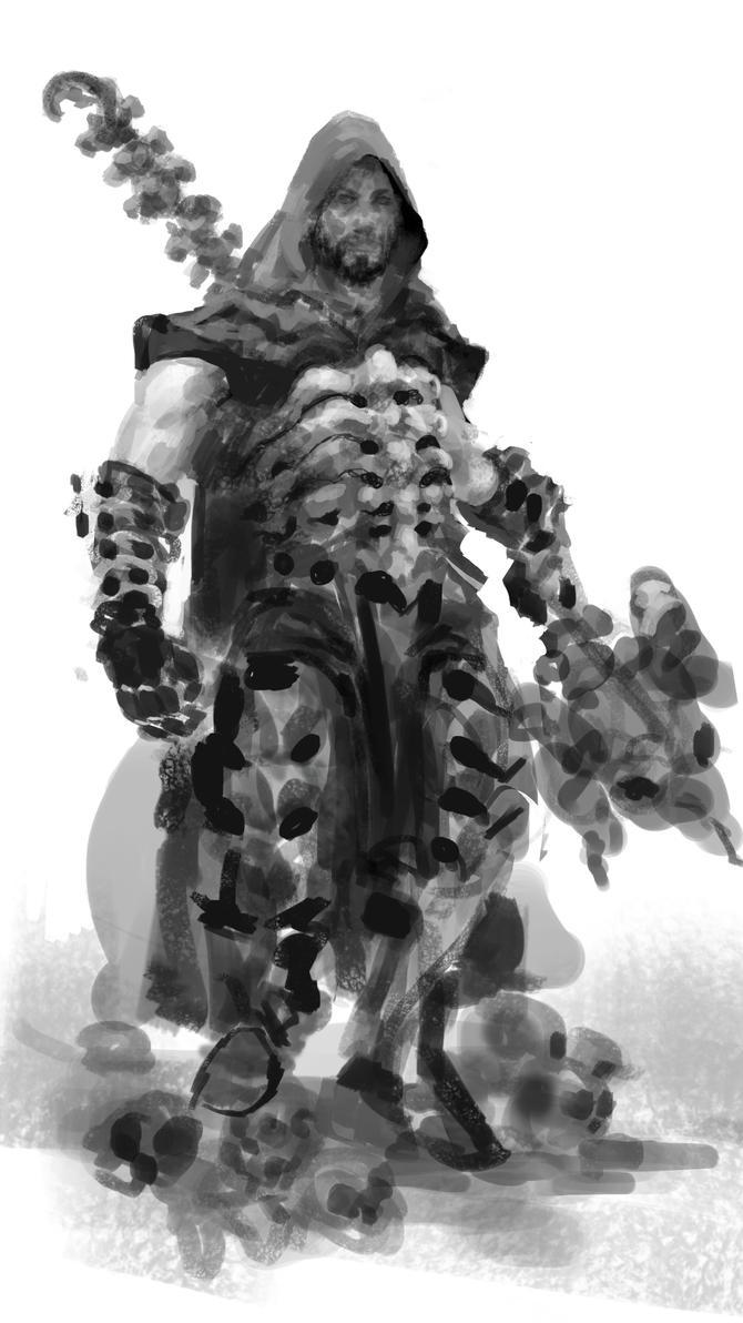 Necromancer Sketch by Slange5