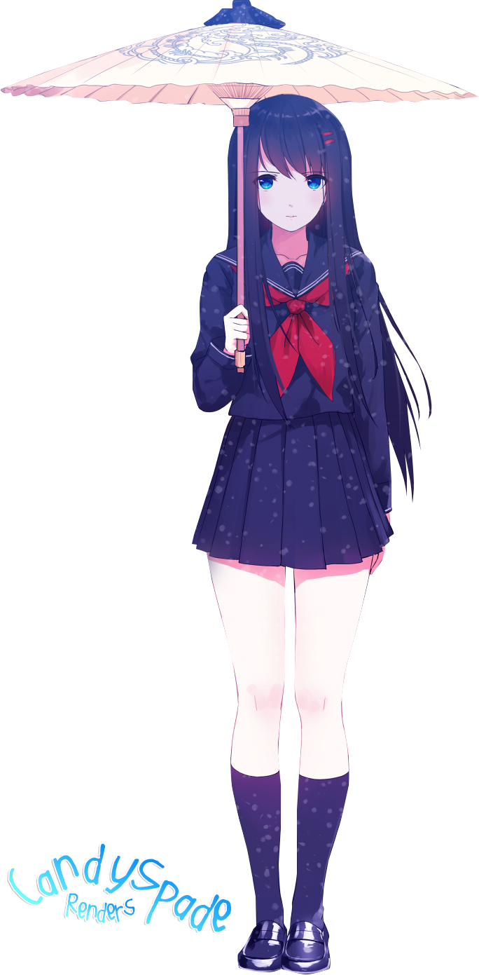 Anime Girl with Umbrella - Render #10 by StarrySkyTrench on DeviantArt
