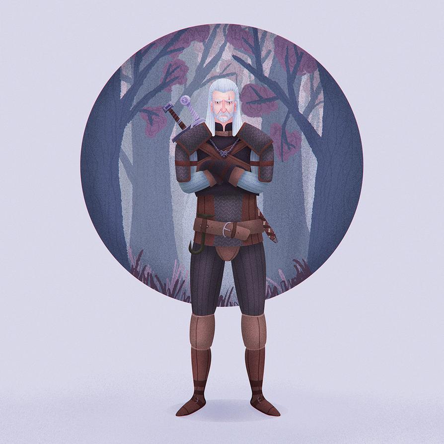 Geralt of Rivia by ostrysharp