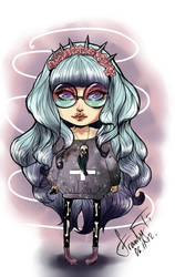 art challenge  - Pastel Goth Style by Franky-Tiem