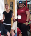 She gained ALOT weight(over 100 pounds)