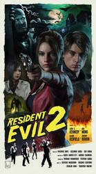 Resident Evil 2 (Remake) Retro Poster