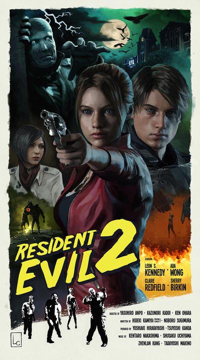 Resident Evil 2 Remake Retro Poster By Lewiscoraline On Deviantart