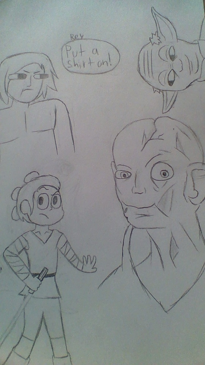 Star Wars Sketches by phythonking