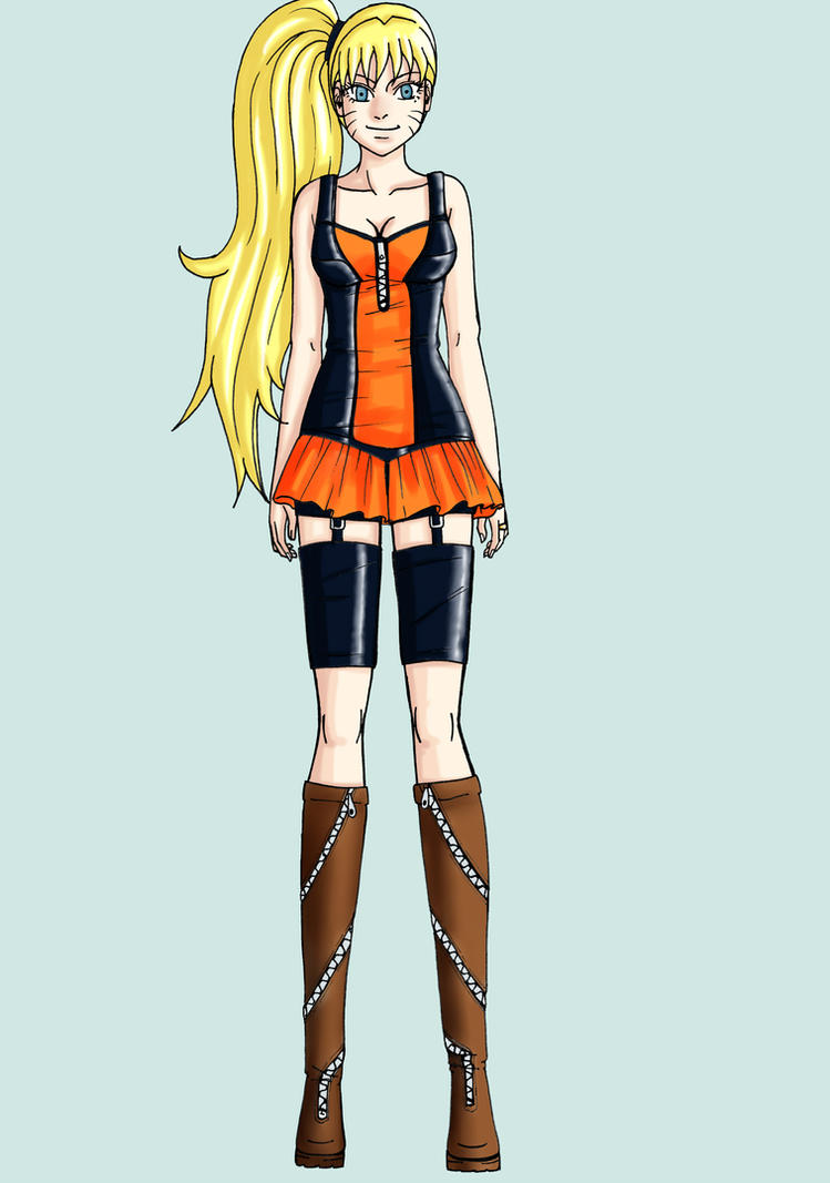 FemNaruto Outfit Design - Frontview by Yrya-chan