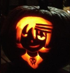 Death the Kid pumpkin by bloodrose46