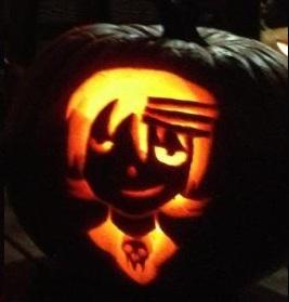 Death the Kid pumpkin by bloodrose46