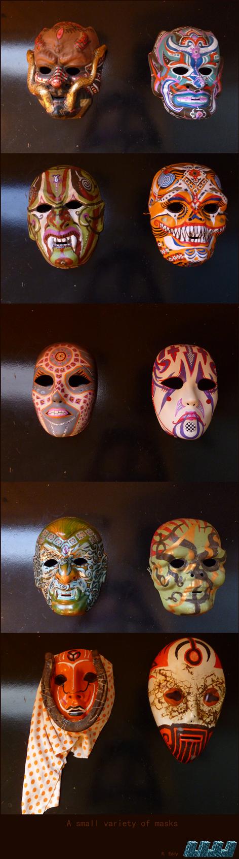 Ten masks by Lijj