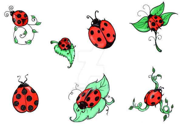 Ladybug Tattoo Designs by PicassoPixie on DeviantArt
