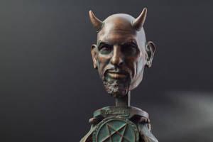 Satan  Anton Szandor LaVey fan Art 10 inch -