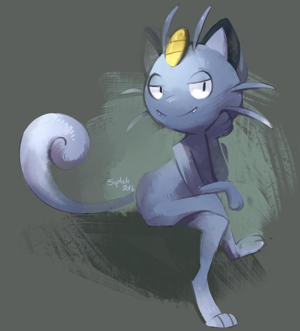Pokemon: Alola Form Meowth by QueenAshi on DeviantArt