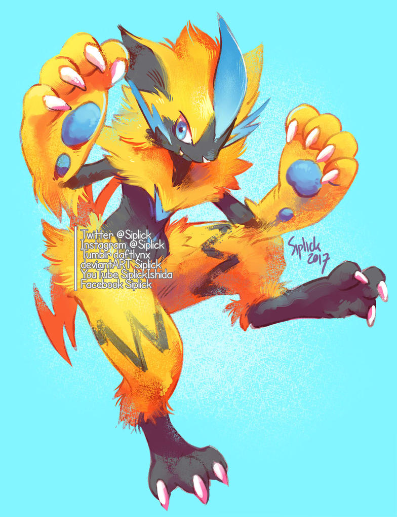 Zeraora By Siplick On Deviantart