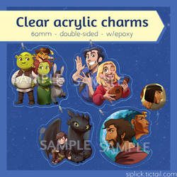 PREORDERS - Dreamworks charms by Siplick