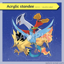 PREORDERS - Pokemon acrylic standee by Siplick