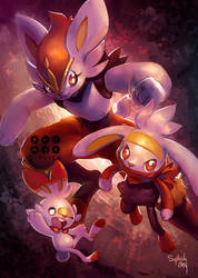 Scorbunny, Raboot and Cinderace