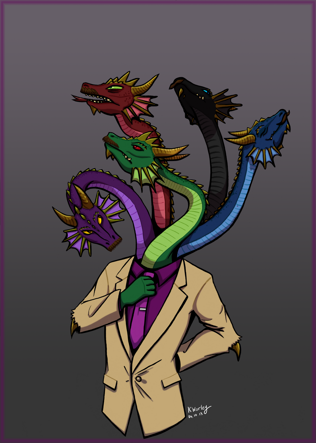 A five headed dragon who cares by Kaynime on DeviantArt - photo#7