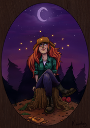Wendy under the moon by Kaynime