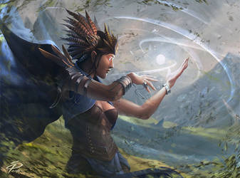 Anila, Magus of the second Seal by SimonPape