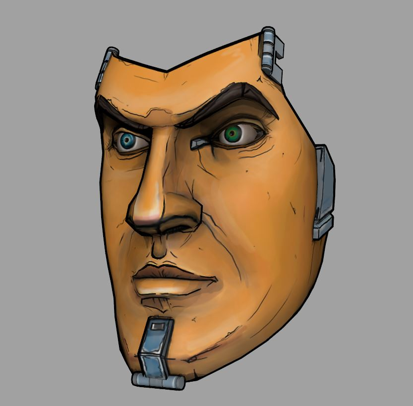 Handsome Jack S Mask Wip Borderlands 2 By 7he1ndigo On