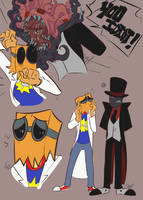 Black Hat and Flug doodles by SunaBuna