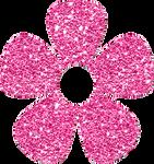 Pink glitter flower