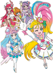 Another puzzle post of the Pretty Cure and La Mer