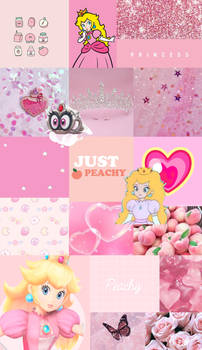 Princess Peach gamer girl wallpaper