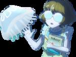 Minori sees a jellyfish